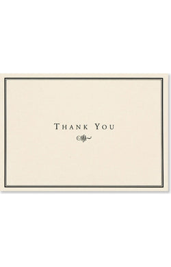 Thank You Notes Black/cream