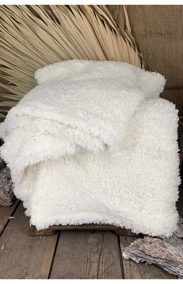 Shearling Blanket - Cream