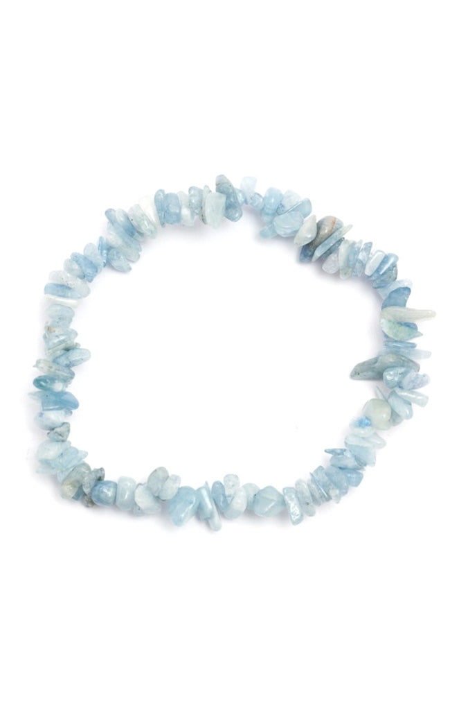 Crystal Chip Bracelet - Aquamarine