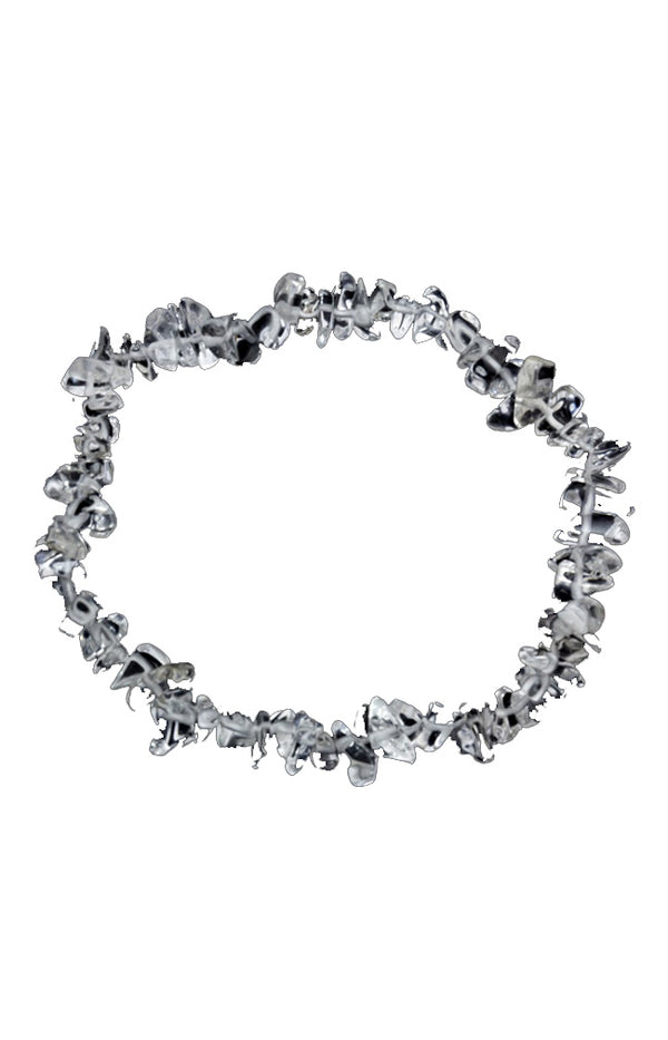 Crystal Chip Bracelet - Clear Quartz