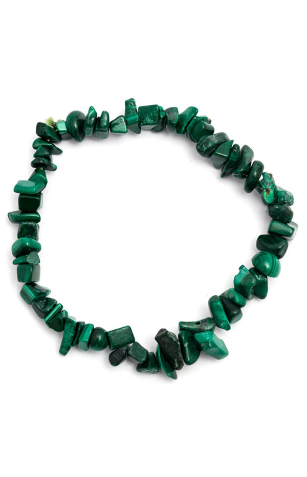 Crystal Chip Bracelet - Malachite