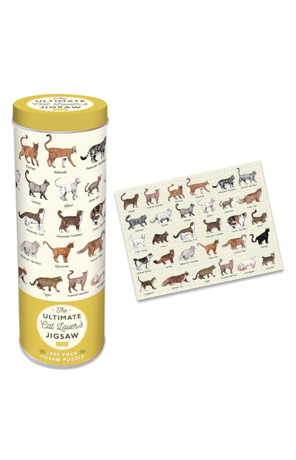 Cat Lovers 1000pc Jigsaw in Tin