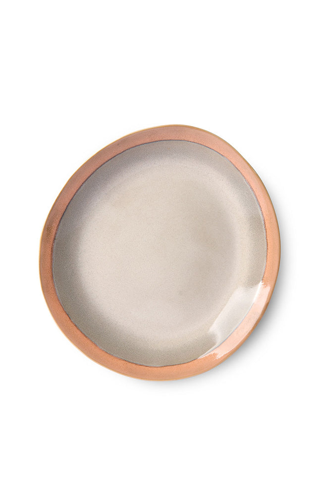 Ceramic 70's Side Plate - Earth