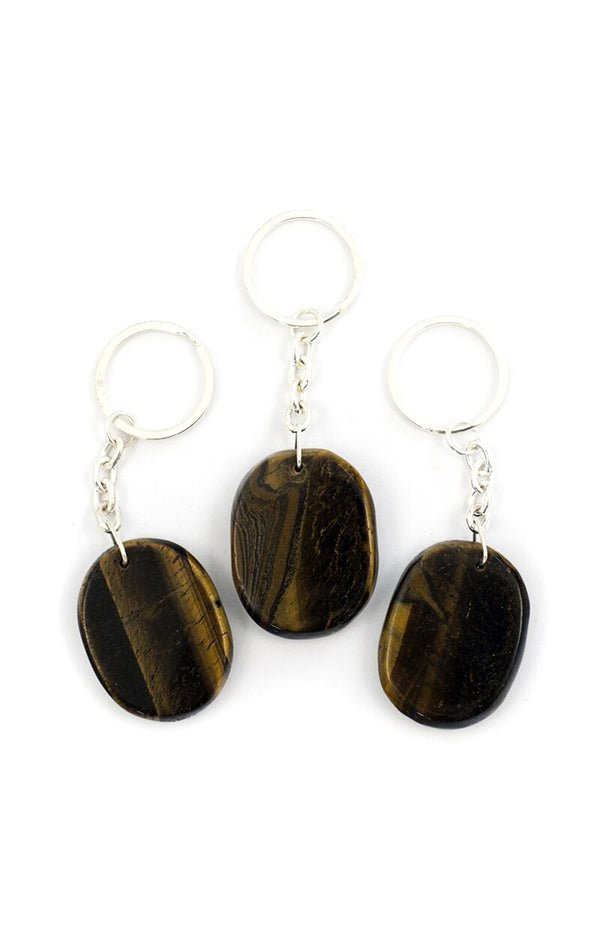 Crystal Keyring - Golden Tiger's Eye