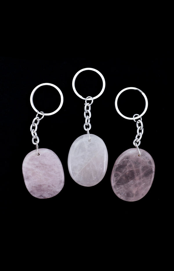 Crystal Keyring - Rose Quartz