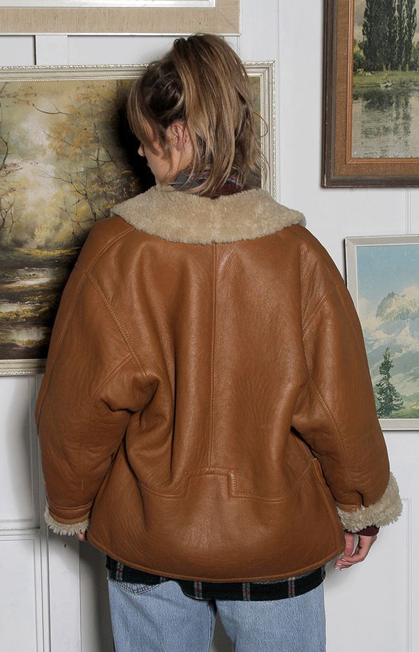 Vintage Suede/Leather Jacket - D1 - W50cm/70cm