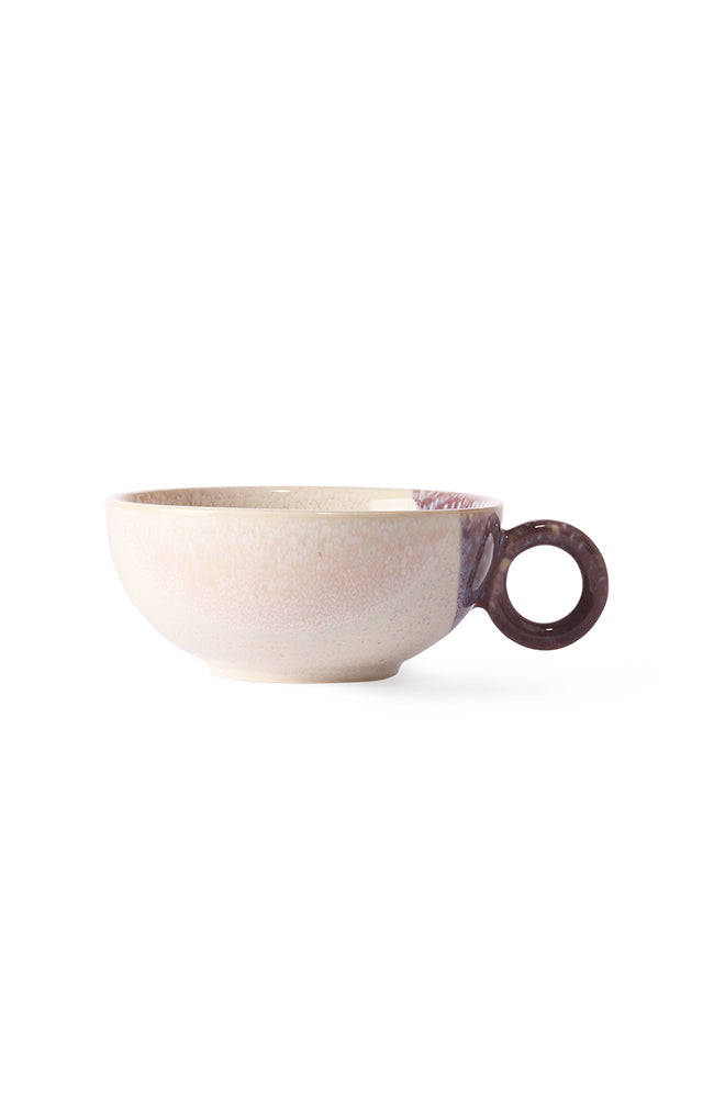 Gallery Ceramics - Tea Cup - Cream/Lilac