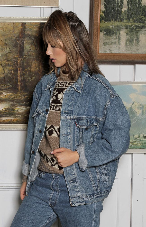 Vintage Denim Jacket - H2 - W53cm/L60cm