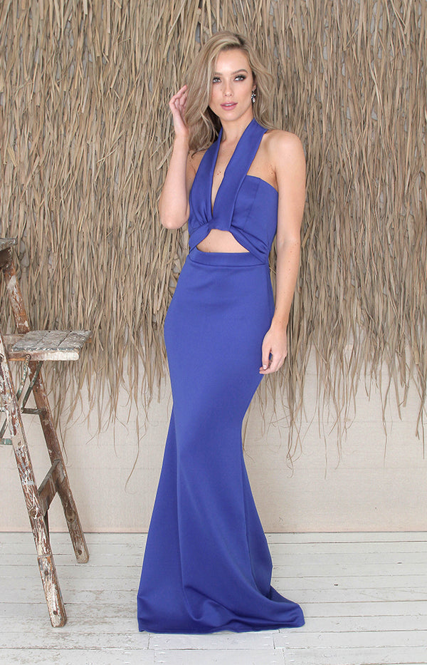 Saffron Gown - Royal Blue