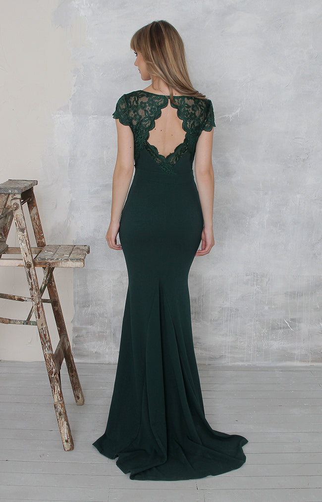 Blanche Gown - Forest Green