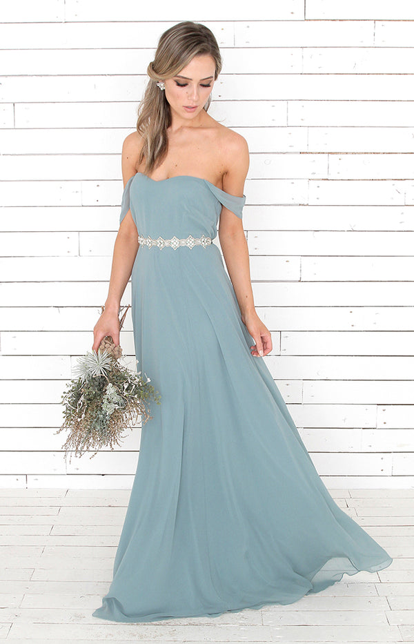 Milla Gown - Dusty Teal