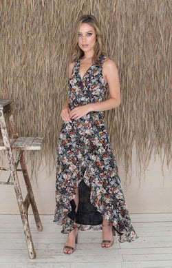 Aurelia Dress - Navy Floral