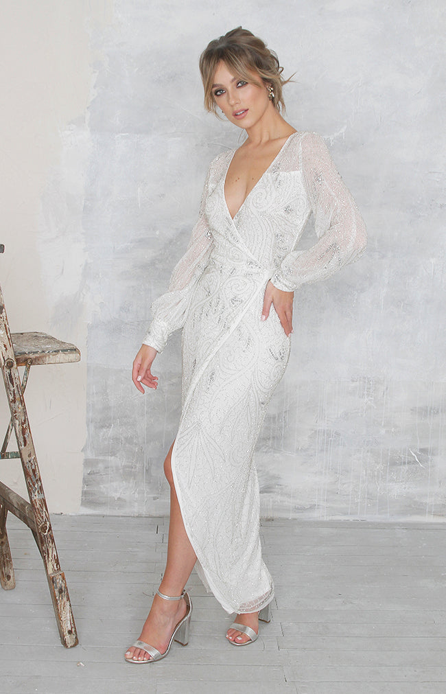 Cara Dress Limited Edition (Hand Beaded) - Ivory