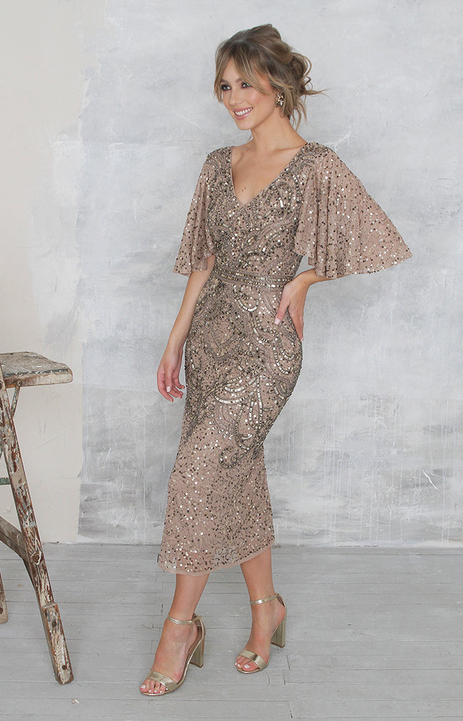 Gwen Dress - Antique Gold