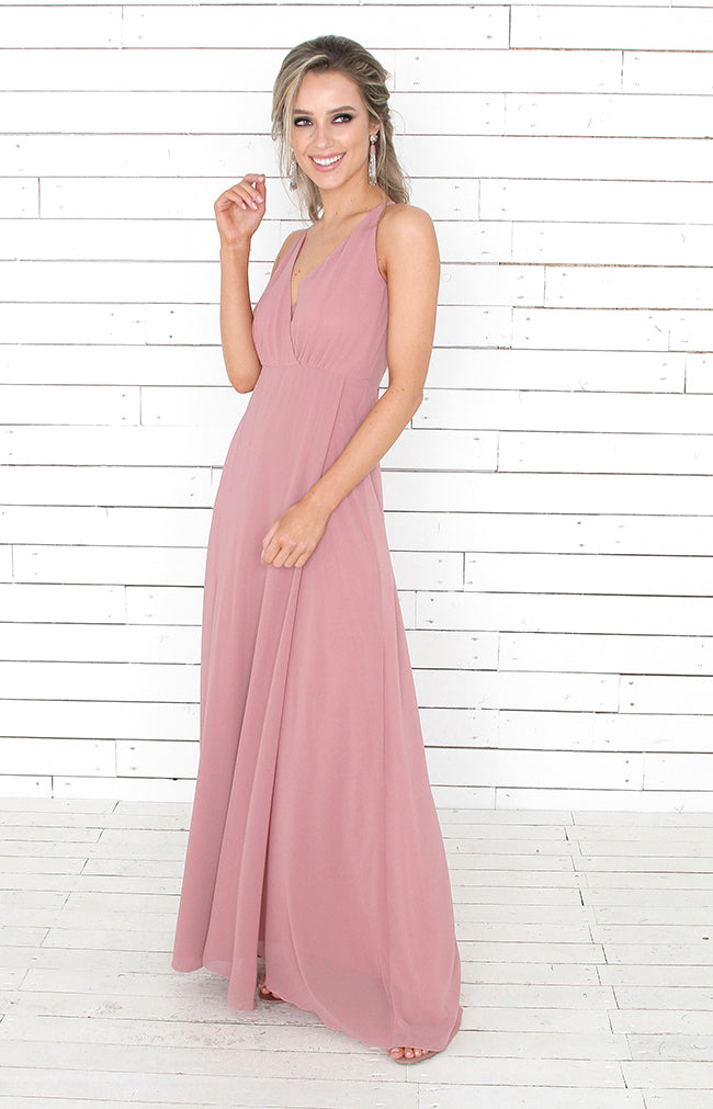Alicia Gown  - Dusty Rose