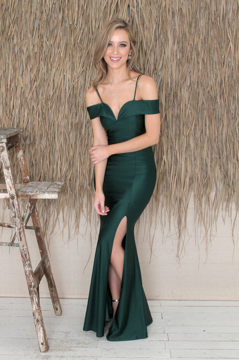Misha Gown - Forest Green