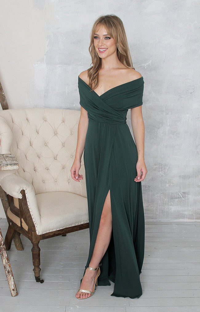 Yvette Gown - Forest Green