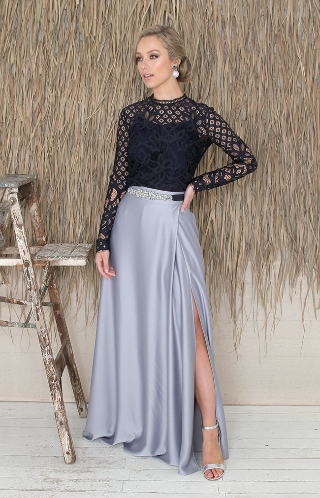 Sarena Skirt - Dusty Blue