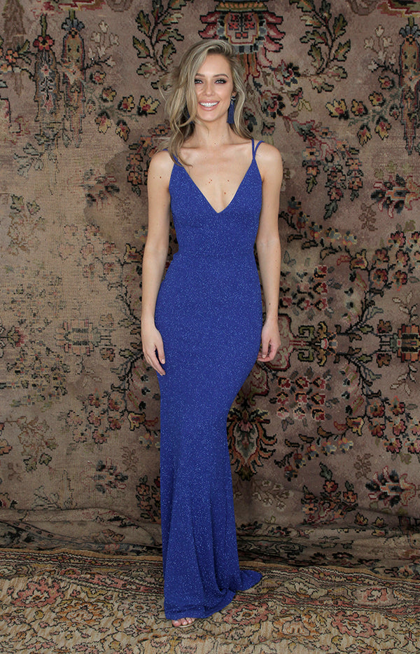 Talita Shimmer Gown - Blue