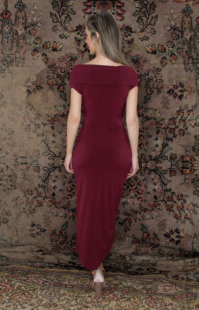 Lana Midi Dress - Berry