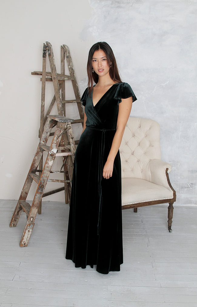 Tallie Gown - Forest Green