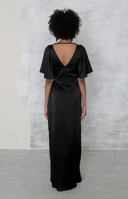 Renata High Back Gown Satin - Olive