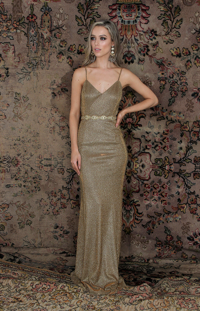 Ambrose Gown - Antique Gold
