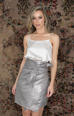 Keaton Mini Skirt - Silver