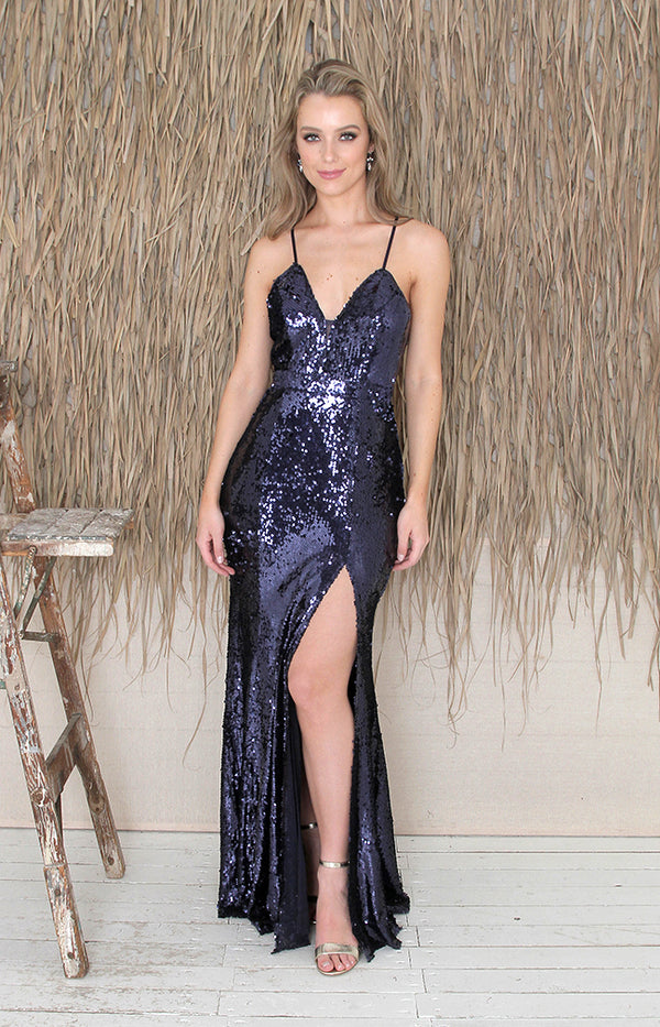 Dove Gown - Navy