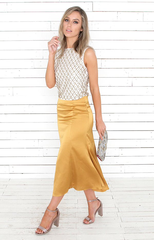Marita Skirt - Antique Gold