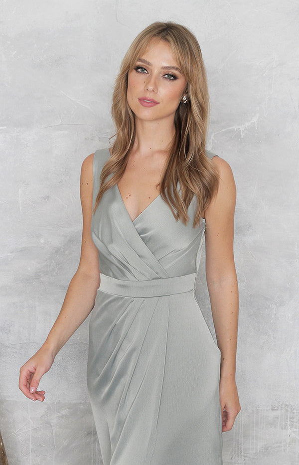 Fabia High Back Gown - Sage