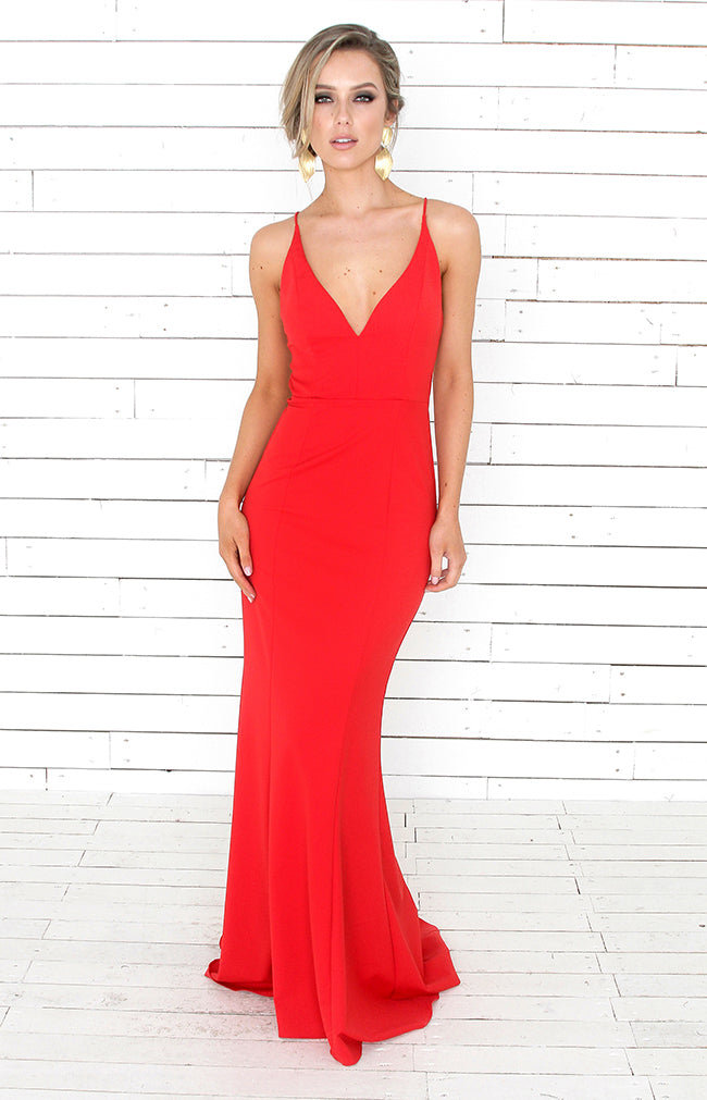 Mylo Gown - Scarlet