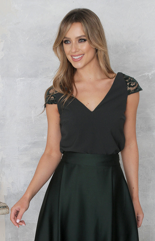 Arabella Top - Forest Green