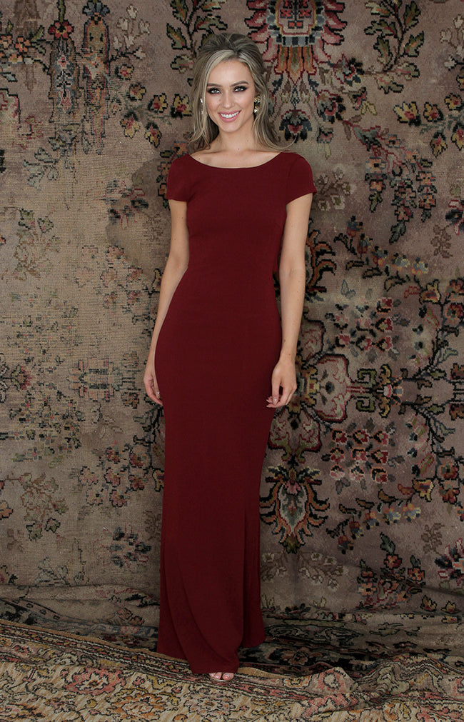 Elle Gown - Burgundy