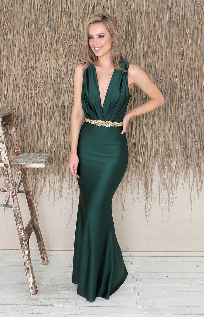 Sabel Gown - Forest Green