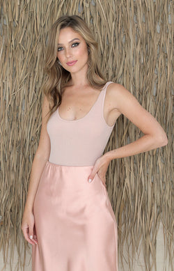 Brenna Bodysuit - Blush