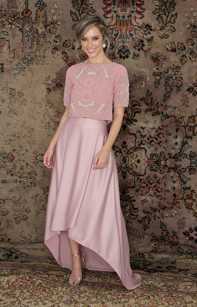 Tessa Skirt - Dusty Rose
