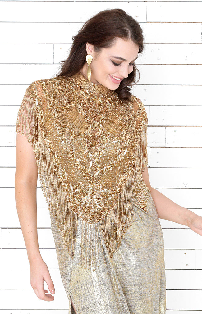 Lucille Cape - Antique Gold