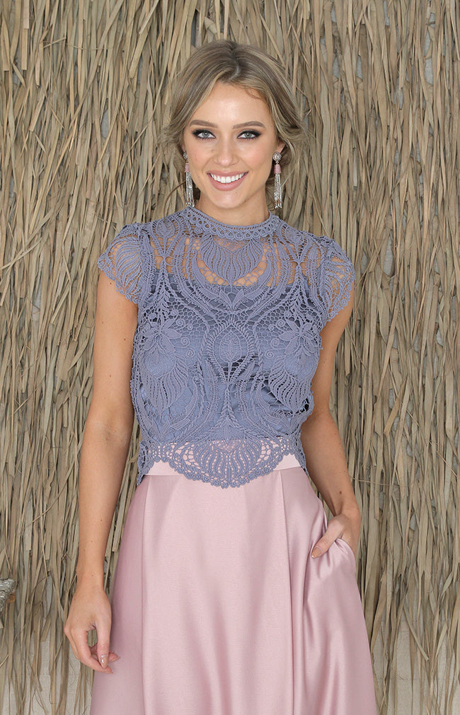 Shay Top - Dusty Blue