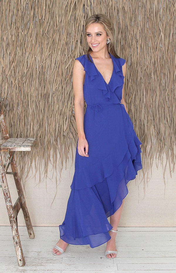 Sabrina Dress - Cobalt