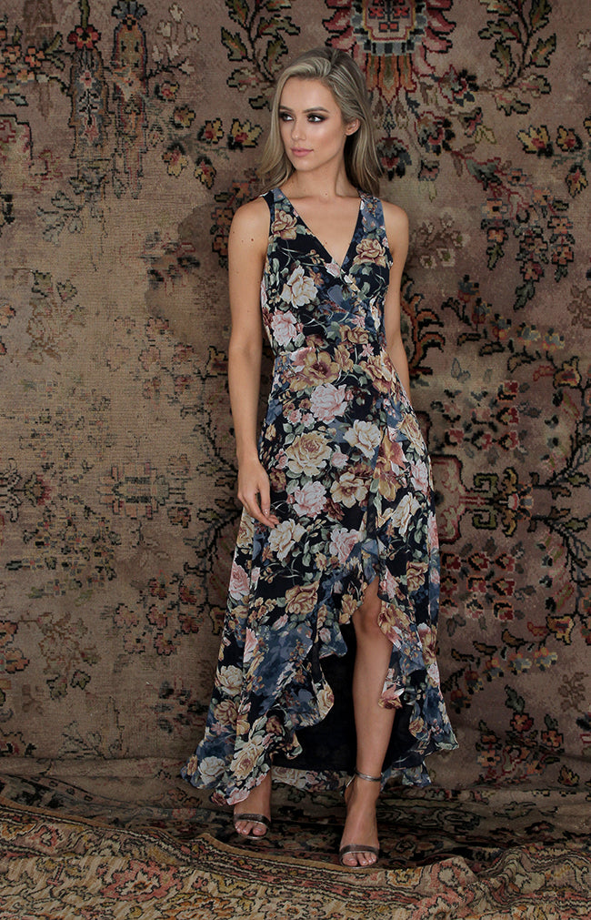 Lenora Dress - Navy Floral