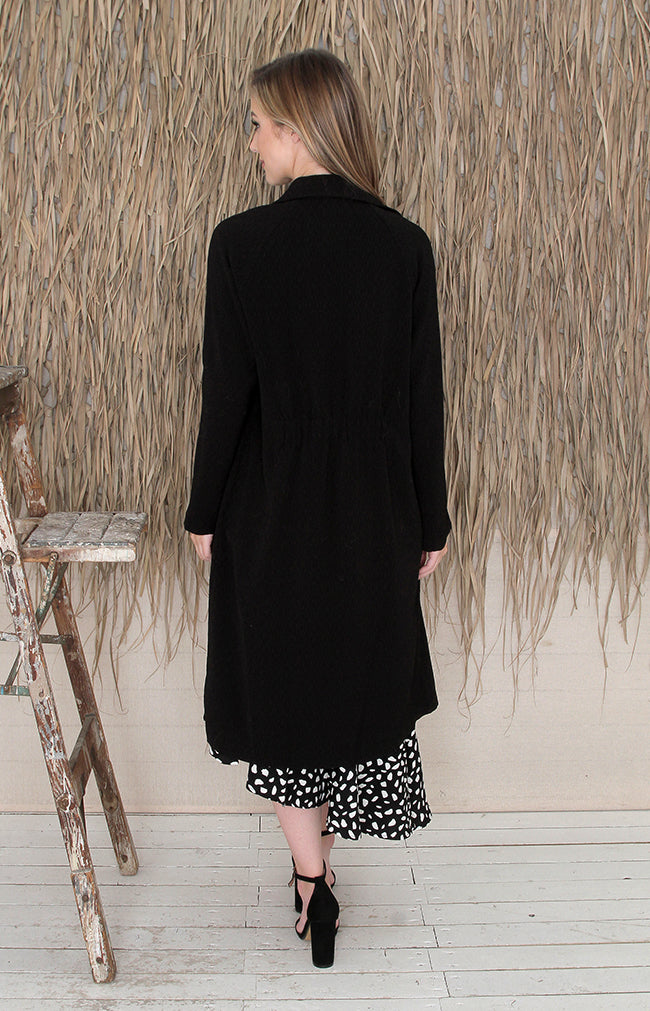 Gwyneth Trench Coat - Black