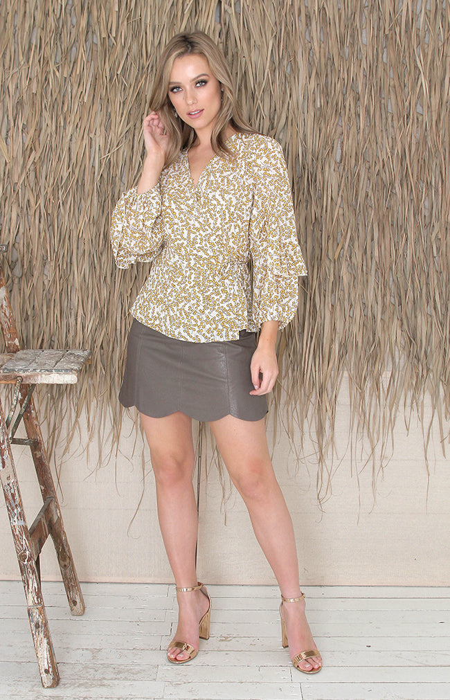 Angela Blouse - Yellow Floral