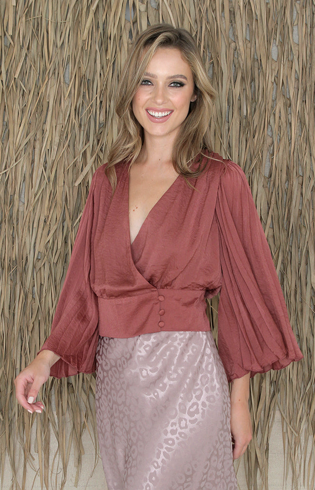 Arden Top - Dark Mauve