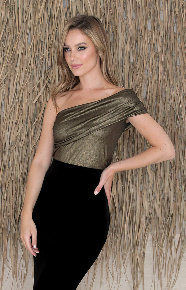 Palma Luxe Top - Gold