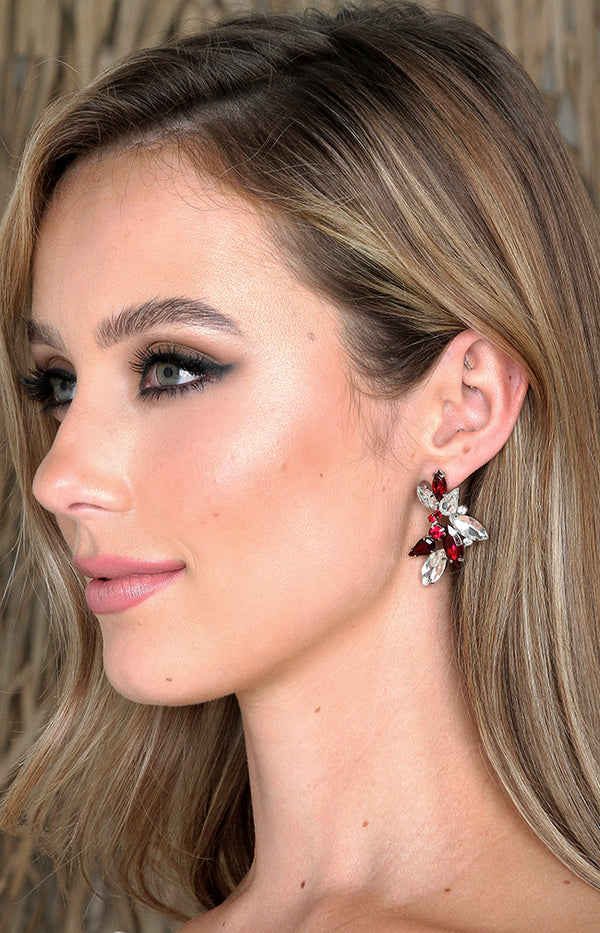Almada Earrings - Burgundy
