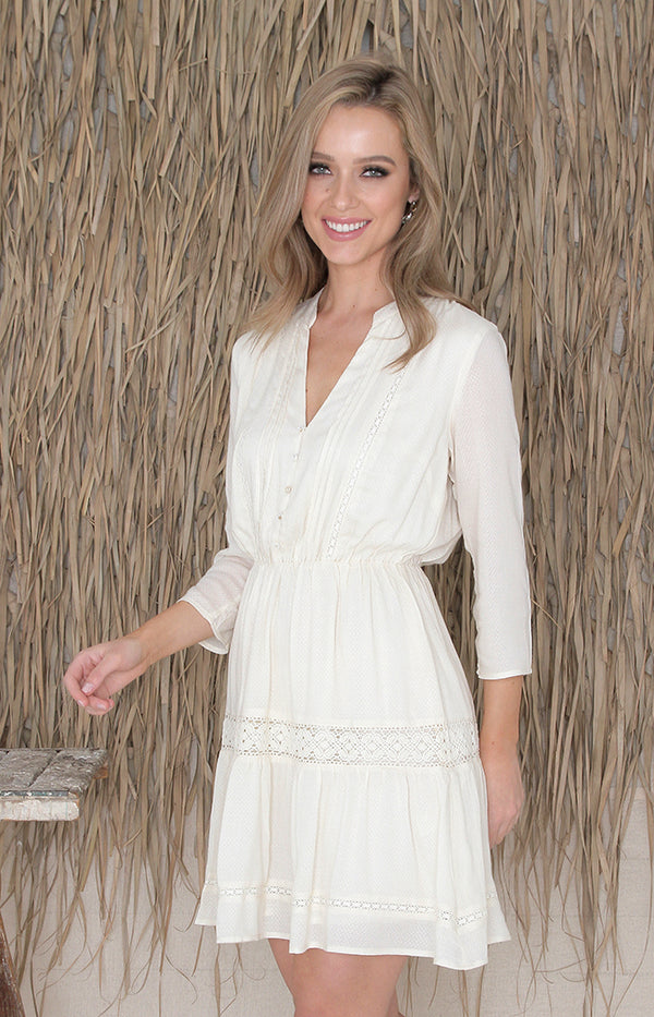 Brooke Dress - Cream