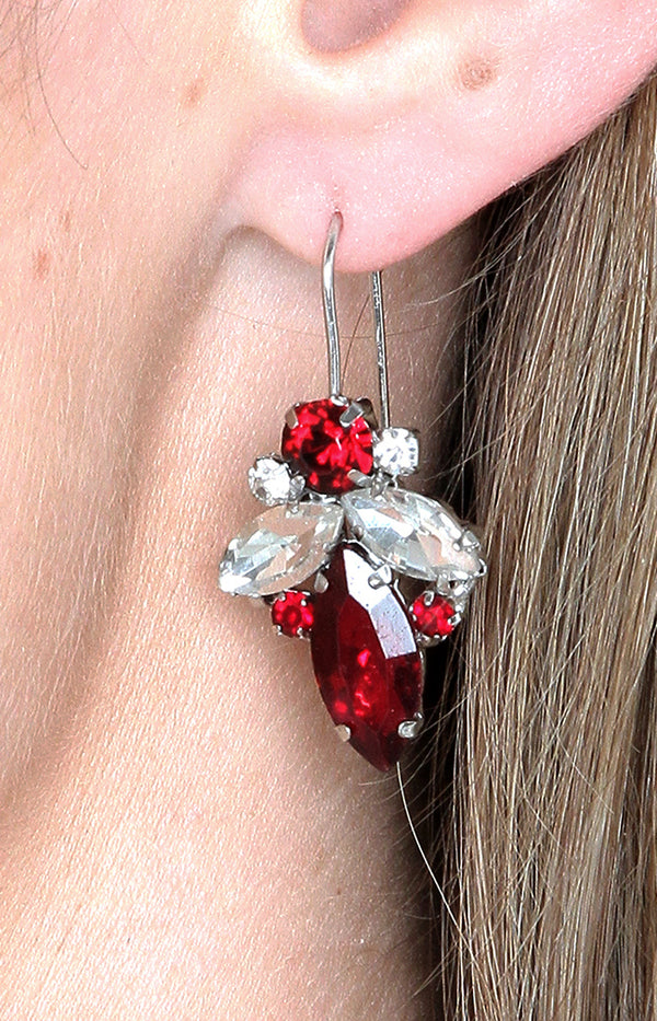 Satara Earrings - Burgundy