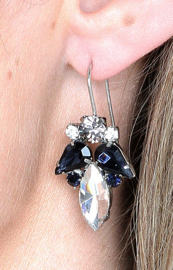 Satara Earrings - Navy