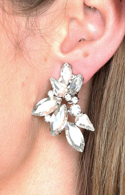 Almada Earrings - Clip On - Silver
